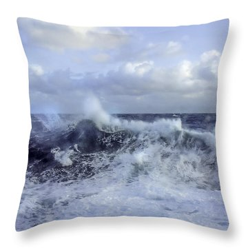 Rocking And Rolling In The Deep Sea Throw Pillow