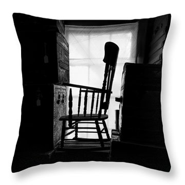 Rocking Chair Throw Pillow by Bob Orsillo