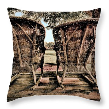 Rocking Chairs Throw Pillow