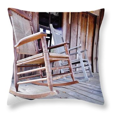 Rocking On The Front Porch Throw Pillow