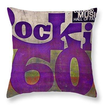 Rocking Sixties Music Throw Pillow by Janice Rae Pariza