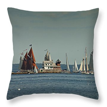 Rockland Break Water Throw Pillow by Alana Ranney