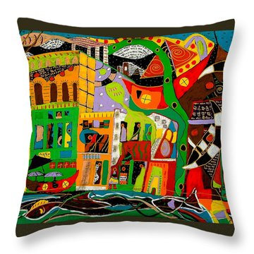 Throw Pillow featuring the painting Rockland by Clarity Artists