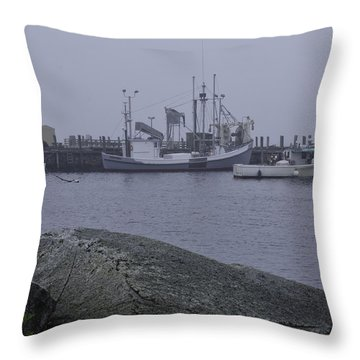 Throw Pillow featuring the photograph Rockland Me by Daniel Hebard