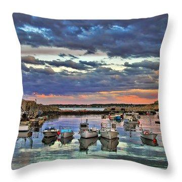 Rockport Dusk Throw Pillow by Joann Vitali