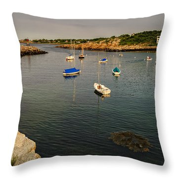 Rockport Gold Throw Pillow