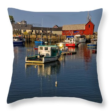 Rockport Harbor No.1 Throw Pillow