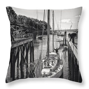 Rockport Harbor Throw Pillow by Priscilla Burgers