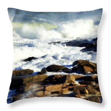 Rockport Throw Pillow by Kenny Glotfelty