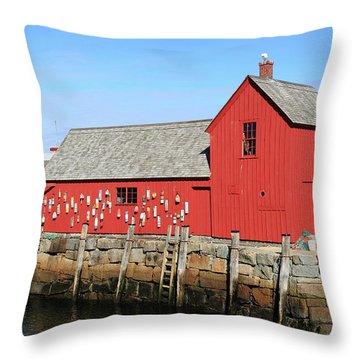 Rockport Motif Number 1 Throw Pillow