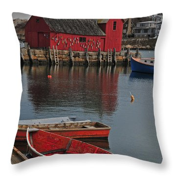 Rockport No. 1 Throw Pillow by Mike Martin