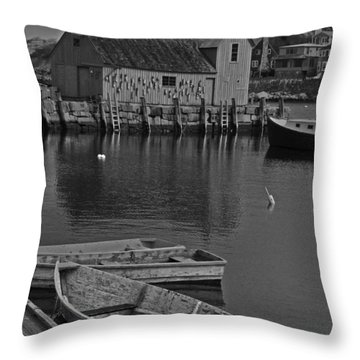 Rockport No.  2 Throw Pillow by Mike Martin