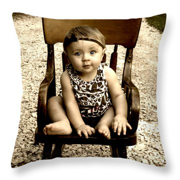 Rocks And Chair Throw Pillow