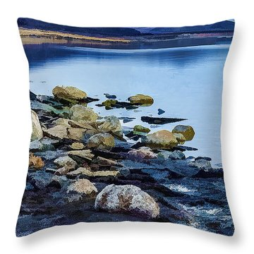 Rocks And Sand-2 Throw Pillow