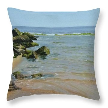 Rocks And Shallows Throw Pillow