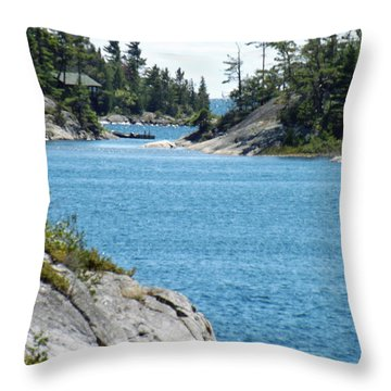 Rocks And Water Paradise Throw Pillow by Brenda Brown