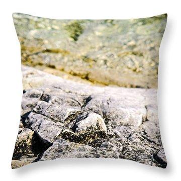 Rocks At Georgian Bay Throw Pillow by Elena Elisseeva