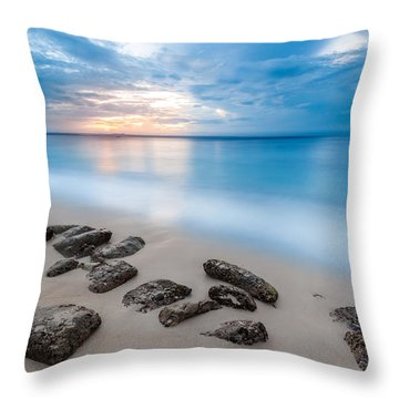 Throw Pillow featuring the photograph Rocks By The Sea by Mihai Andritoiu