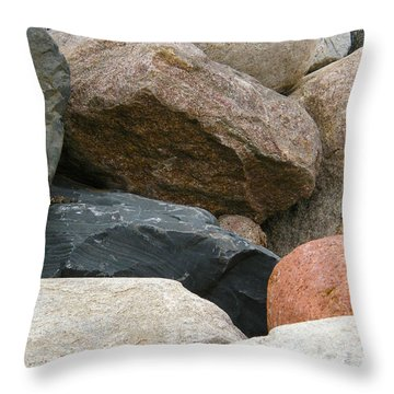 Rocks In Various Colors Throw Pillow