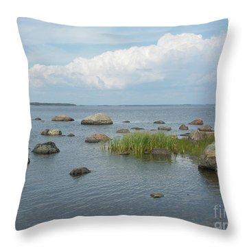 Rocks On The Baltic Sea Throw Pillow