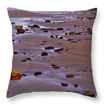 Rocks On The Seashore Throw Pillow