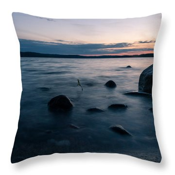Rocks At A Shore Throw Pillow by Janne Mankinen