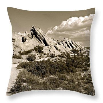 Rocks On Warm Wind Throw Pillow