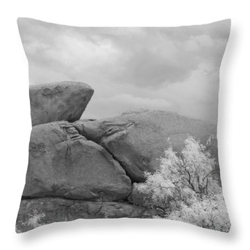 Rocks Under Ir Sky Throw Pillow