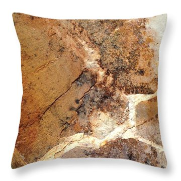 Rockscape 1 Throw Pillow by Linda Bailey