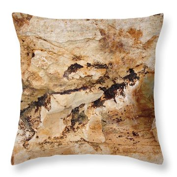 Rockscape 3 Throw Pillow by Linda Bailey