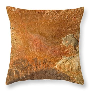 Rockscape 6 Throw Pillow by Linda Bailey