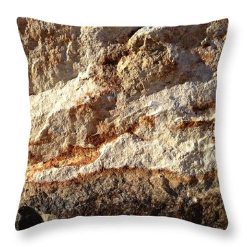Rockscape 9 Throw Pillow by Linda Bailey