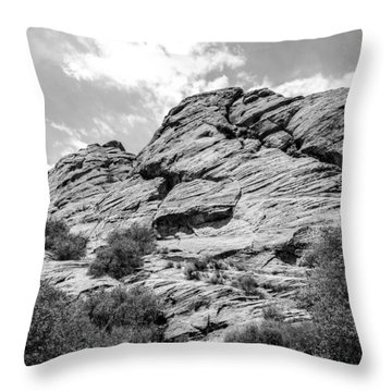 Rockscape In Greys Throw Pillow by Denise Bird
