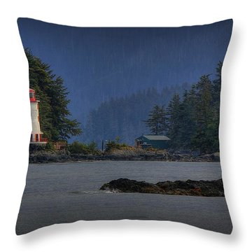 Rockwell Lighthouse Sitka Alaska Throw Pillow