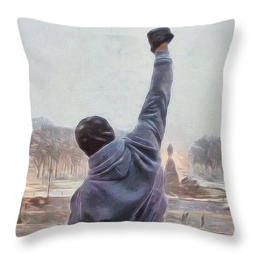 Rocky Balboa Throw Pillow by Dan Sproul