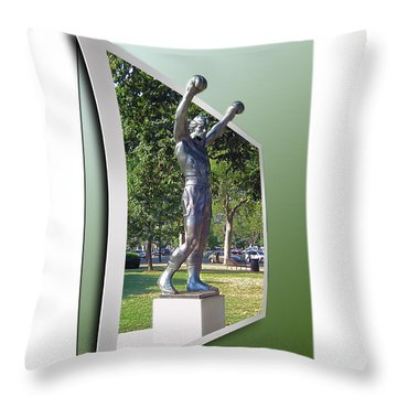 Rocky Balboa - Oof Throw Pillow by Brian Wallace
