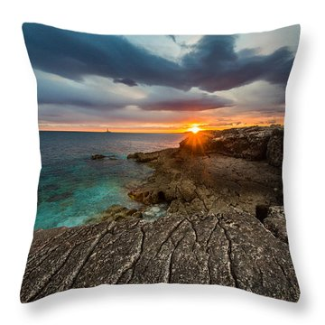 Rocky Beach II Throw Pillow by Davorin Mance