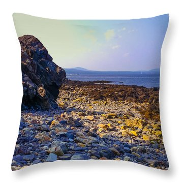 Rocky Coast Throw Pillow by Ernest Puglisi