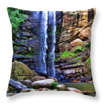 Rocky Falls Throw Pillow by Kenny Francis