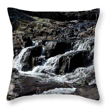 Rocky Falls Throw Pillow