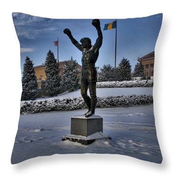 Rocky In The Snow Throw Pillow