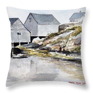 Rocky Inlet Throw Pillow
