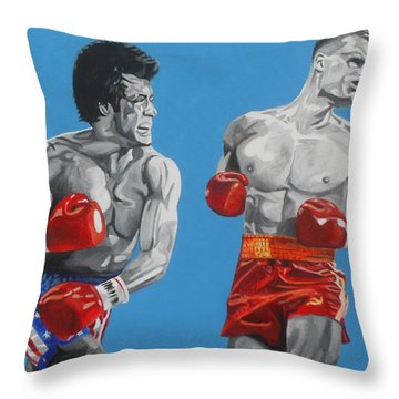 Rocky Iv Hes Cut Throw Pillow