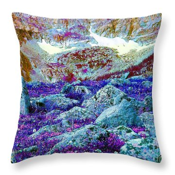 Throw Pillow featuring the photograph Rocky Mountain Boulders by Ann Johndro-Collins