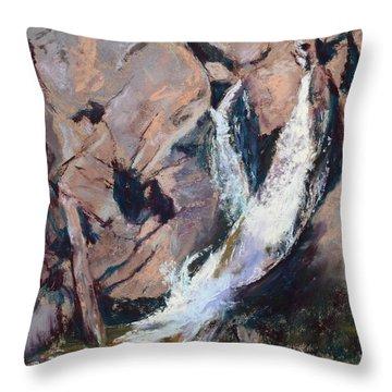 Rocky Mountain Cascade Throw Pillow