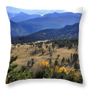 Throw Pillow featuring the photograph Rocky Mountain Evening by Nava Thompson