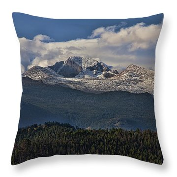 Rocky Mountain High Throw Pillow by Anne Rodkin