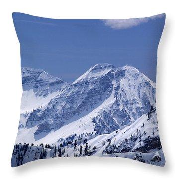 Rocky Mountain High Throw Pillow by Bill Gallagher