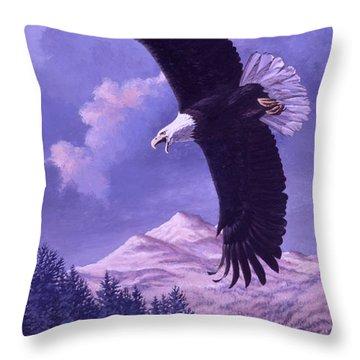 Rocky Mountain High Throw Pillow by Richard De Wolfe