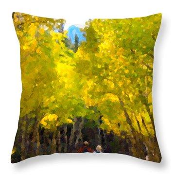 Rocky Mountain Hike Throw Pillow